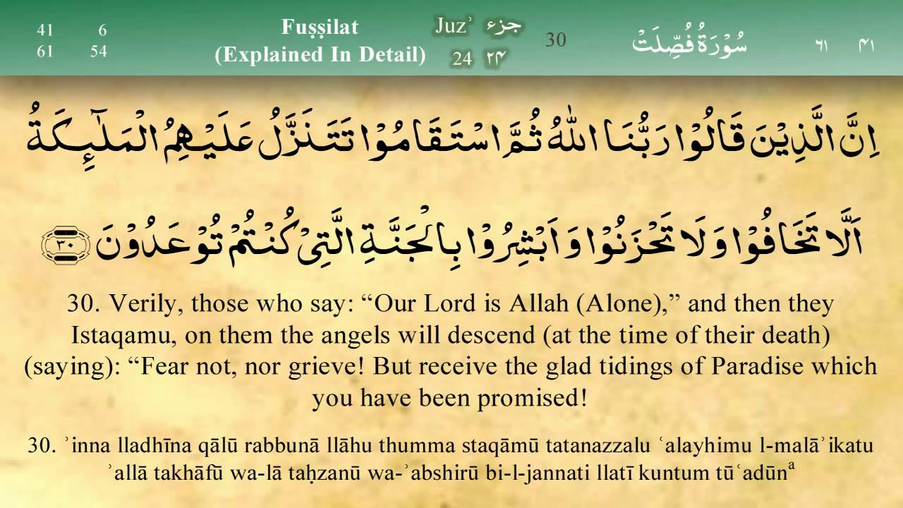 Islam My Ultimate Decision: Surah Fussilat - Explained in