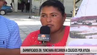 DAMNIFICADOS EN YUNCHARÁ RECURREN A COLEGIOS POR AYUDA