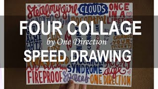 FOUR by One Direction COLLAGE || SPEED DRAWING