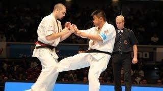 THE 10th WORLD KARATE CHAMPIONSHIP Men 4th round Ivan Berdnikov vs ...