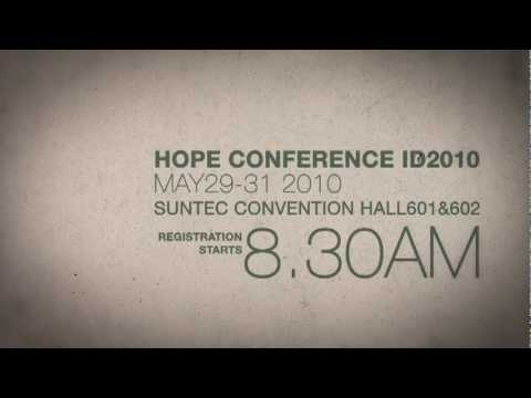 Hope Conference ID2010 - Final Publicity