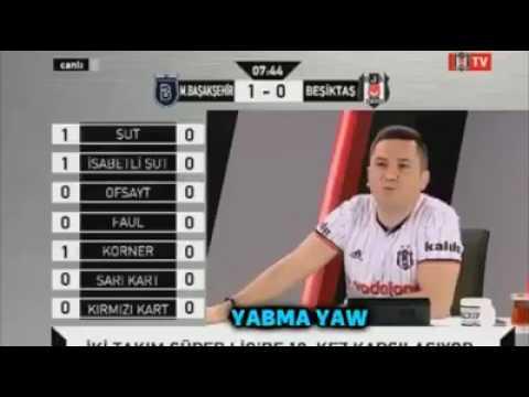 M. BAŞAKŞEHİR 3-0 Beşiktaş | BJK TV'de eğlenceli anlar :)