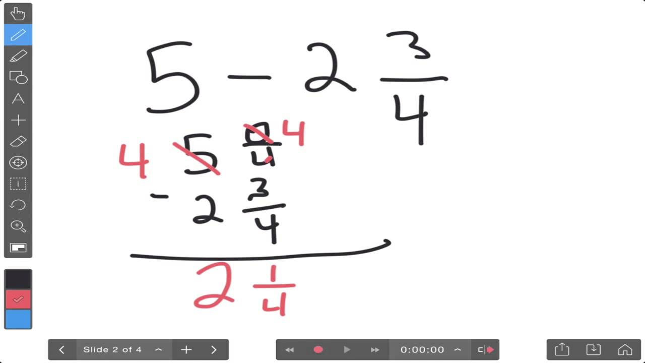 worksheet Regrouping Fractions subtracting fractions regrouping youtube regrouping