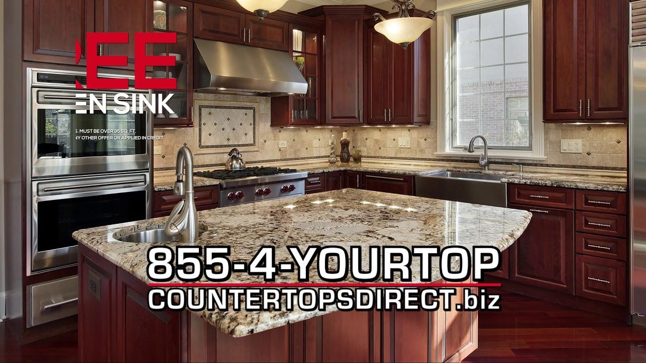 COUNTERTOPS DIRECT FREE Sink With Kitchen Granite/Quartz Purchase