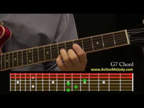 How To Play A G7 Chord On The Guitar Youtube