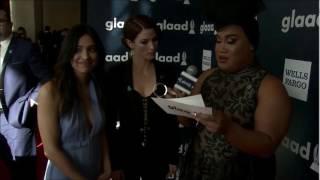 Chyler Leigh & Floriana Lima at the GLAAD Awards 2017