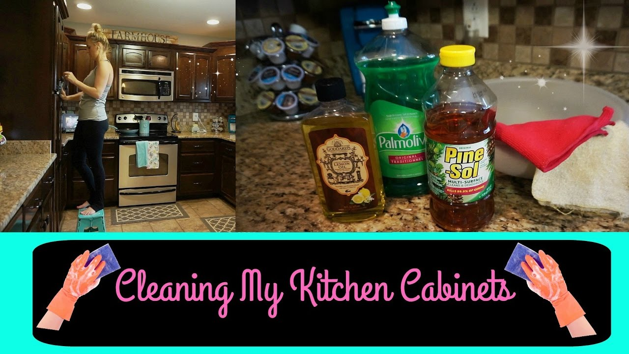 Deep Cleaning My Kitchen Cabinets/ Watch Me Clean Wednesday - YouTube