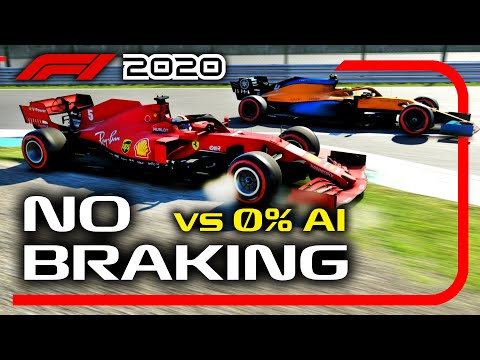Can You Beat 0% AI WITHOUT BRAKING on the F1 2020 Game?! |