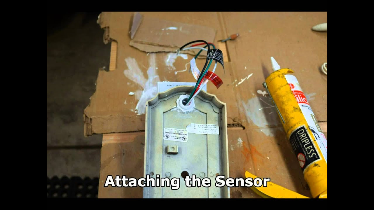Add universal motion detector to outdoor sconce youtube workwithnaturefo