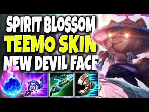 Devil got a NEW FACE the 20th Teemo skin LOOKS OP 🔥 Spirit Blossom Teemo 🔥 LoL Teemo s10 Gameplay