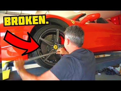 We BROKE Richard's Ferrari 458 Italia and to fix it cost…
