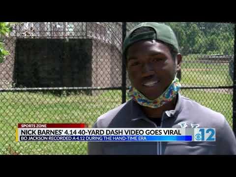 Nick Barnes 4.14 40 Yard Dash Video Goes Viral