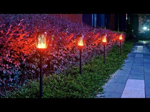 Уличный LED факел OREAB ► зарядка от солнца   P65  7 РЕЖИМОВ ОСВЕЩЕНИЯ