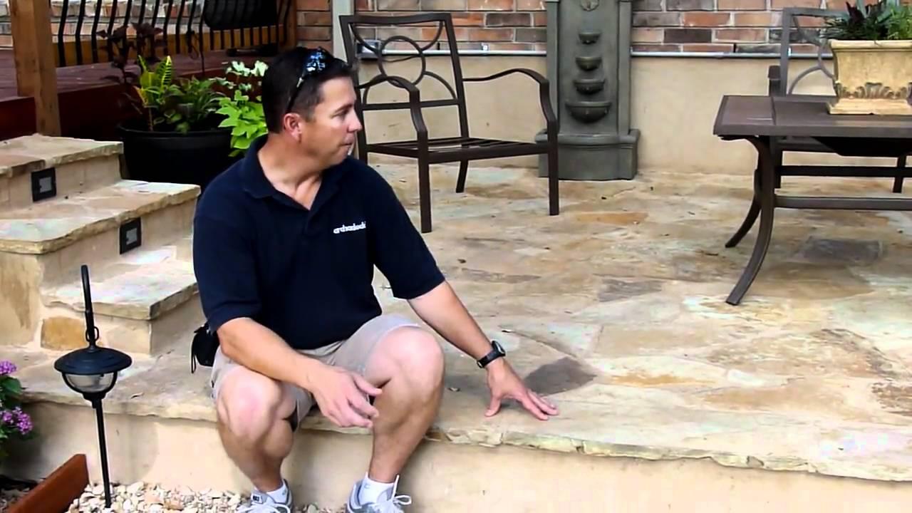 Oklahoma Flagstone Patio Over Concrete Sub Foundation   Austin   YouTube