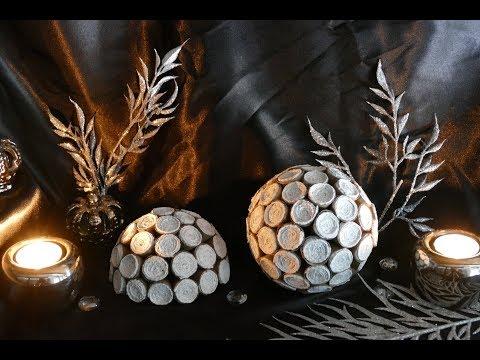 DIY Kugel basteln - DIY Wohndeko durchs Jahr – upcycling – decoration balls – украшение шарами
