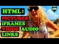 Pictures, iframes, Video, Audio && Links | Beginners HTML in Vim Tutorial #2