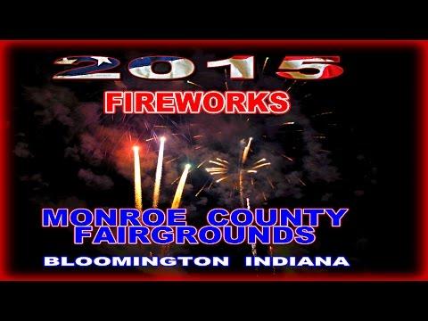 2015 FIREWORKS MONROE FAIRGROUNDS in HD