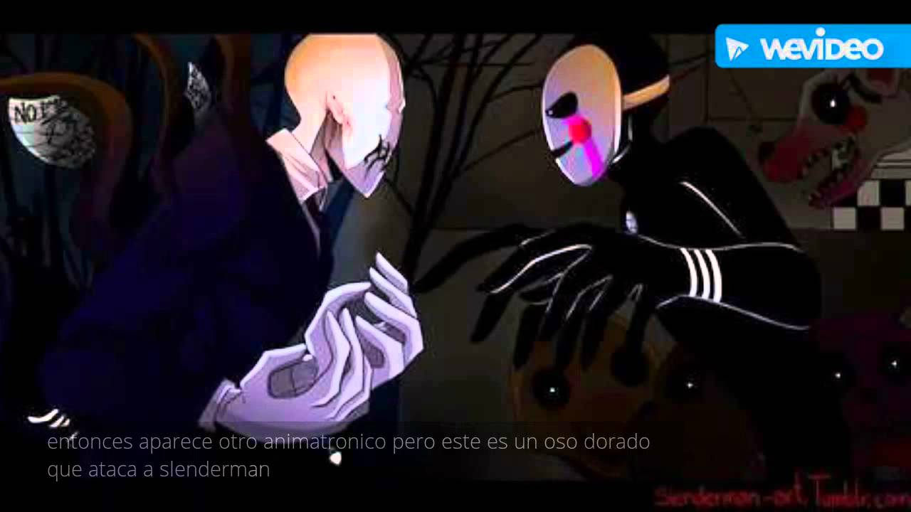 creepypasta puppet vs slenderman experimento c youtube