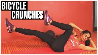 Bicycle Crunches For Women Beginners | How To