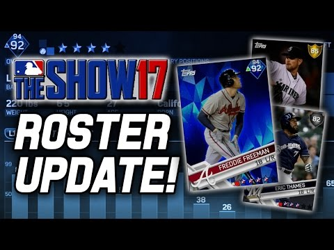 FREEMAN TO DIAMOND, ERIC THAMES, & MORE! MLB The Show 17 Diamond Dynasty Roster Update 4-28-17