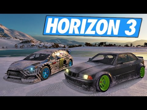 Forza Horizon 3 - Test de la neige !