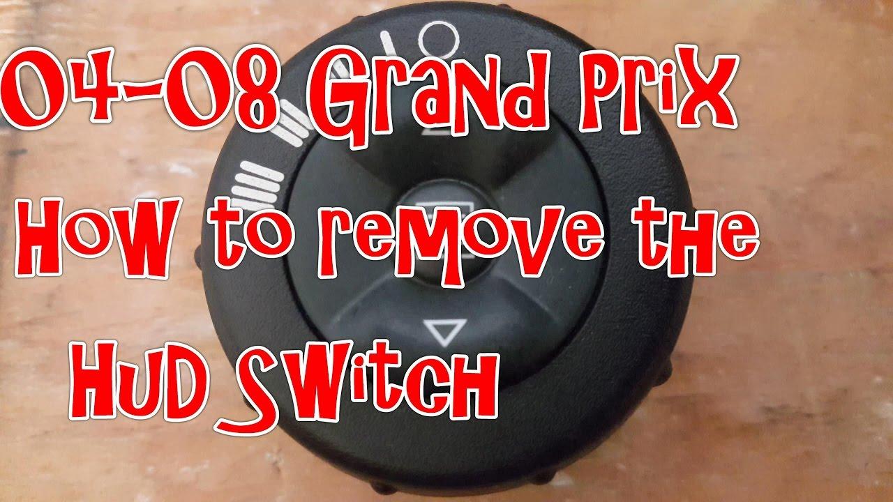 04 08 pontiac grand prix how to remove the hud control switch [ 1280 x 720 Pixel ]