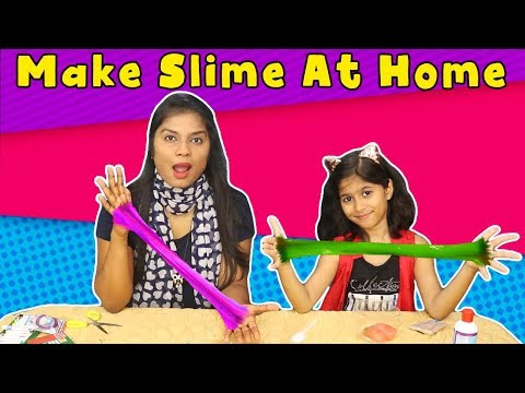 How to Make Easy Slime At Home   Kids Making Slime At Home (Only Two Ingredients)
