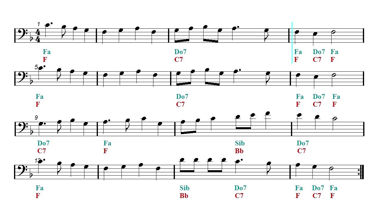 Cello Play Along - Deck The Halls - Christmas song (Sheet music - Guitar chords) - YouTube