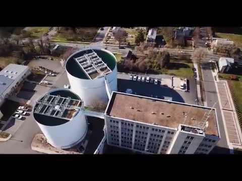 Drone view of Lynchburg's Water Utility Building