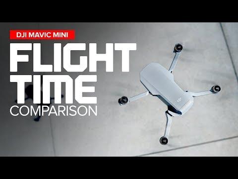 Flight Time Comparison - DJI Mavic Mini / Spark / Air / Pro / 2 Pro