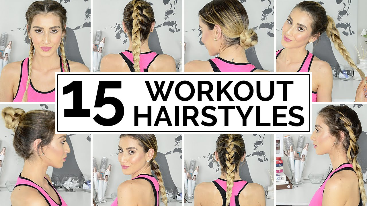 15 Easy Workout Hairstyles Youtube