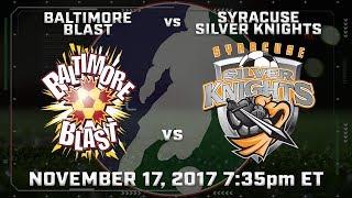 Baltimore Blast vs Syracuse Silver Knights thumbnail