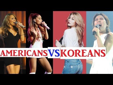 Americans vs Koreans - High Belt Notes Singers