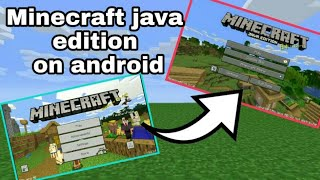 How to get minecraft java edition UI on android/IOS