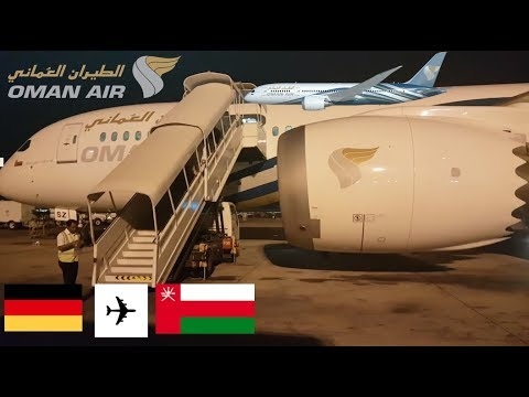Flight Review Business class Oman Air B787-800 A40-SZ Frankfurt to Muscat 02/09/2017