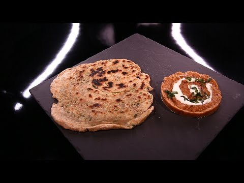 caviar-d'aubergine-indien,-et-paratha-–-pain-indien-feuilleté,-à-la-coriandre-et-à-l'ail-(#dpdc)