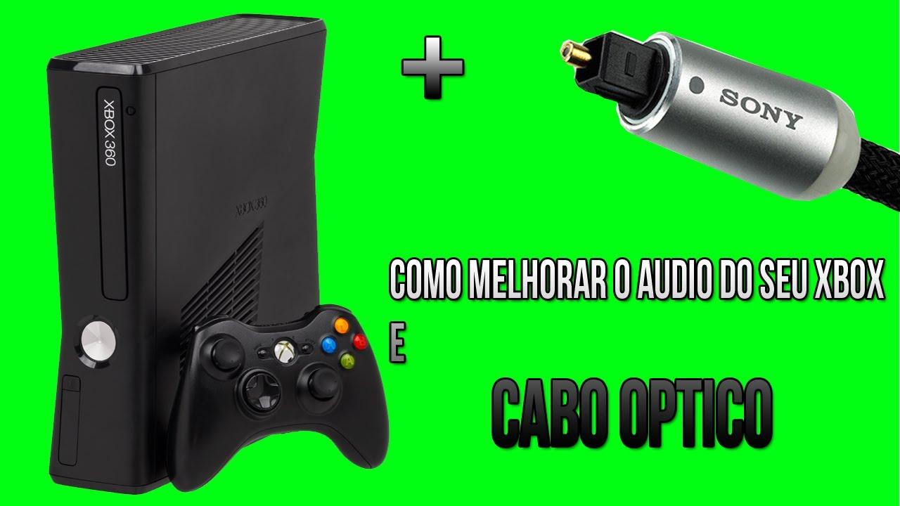 XBOX 360 Como Melhorar O Audio Do Seu Xbox E Cabo Ptico YouTube