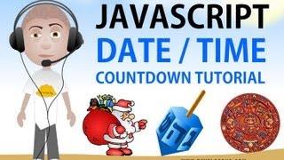 Javascript Date Time Countdown Tutorial Christmas 2012 Doomsday Hanukkah