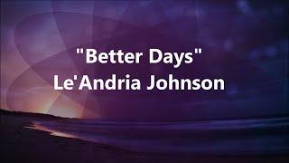 Better Days (Instrumental)