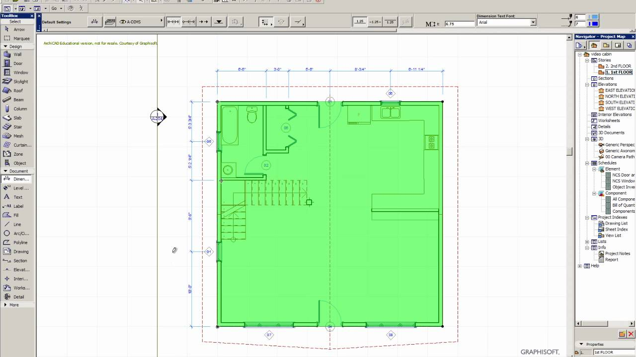 Using the dimension tool in archicad youtube for How to make a blueprint