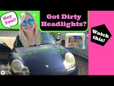 How to Clean Dirty Headlights ❥❥❥ Mr Clean Magic Eraser