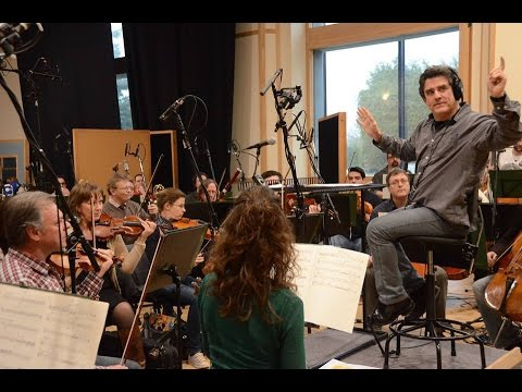 Dirk Brossé recording the music of the musical 14-18 with de Filharmonie at Galaxy Studios Mol