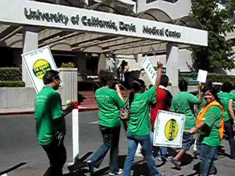 University of California Davis Medical Center-Protest