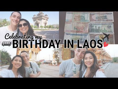 LAOS DIARIES PT.1: TRAVEL DAY | RELAXING FIRST DAY | MY BIRTHDAY IN VIENTIANE