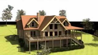 The Roanoke: Log Home Design By Gravitas - Milled, Timber Frame And Handcrafted Log Home Plans