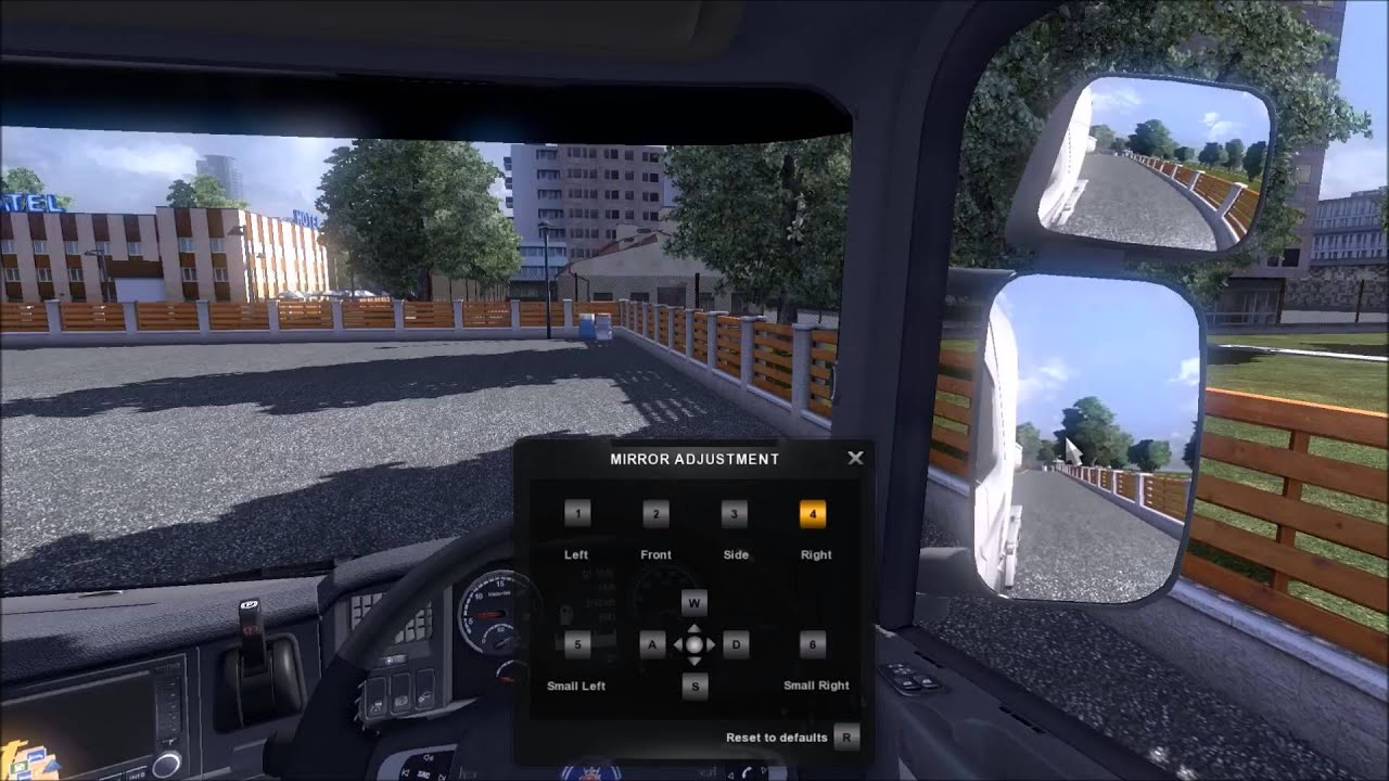 ETS 2 How to adjust mirrors (Day)