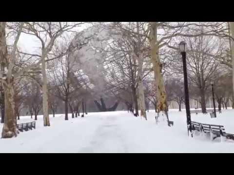nieve en flushing meadows corona park queens new york