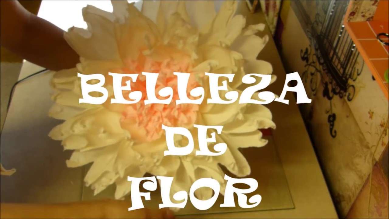 Flor Gigante De Papel Crepe Luzka S Creations Youtube