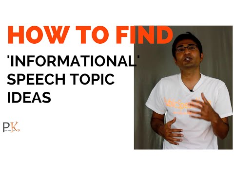 Public Speaking Informational Ch Topic Ideas