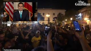 Puerto Rico governor Ricardo Rosselló to quit after weeks of protest